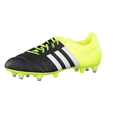 adidas Mens Soccer Boots Ace 15.3 SG Leather Football Boots Sport Shoes  Black B32804 (6.5 4d977744c926