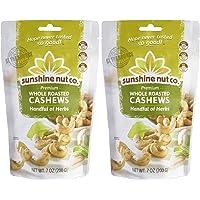Sunshine Nut Company 'Handful of Herbs' Cashews, Peanut Free, Gluten Free, GMO Free, 7 oz, Pack of 2