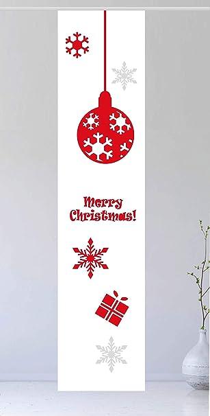 gardinen-for-life Flächenvorhang Jul Red 2 - Gr.60 x 245 cm toller  Schiebevorhang - tolles Weihnachtsmotiv - skandinavische Stimmung  Schiebegardine