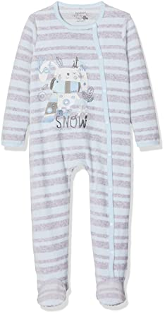 boboli Velour Play Suit For Baby, Pelele Unisex bebé, (Celestes 9834) Recién