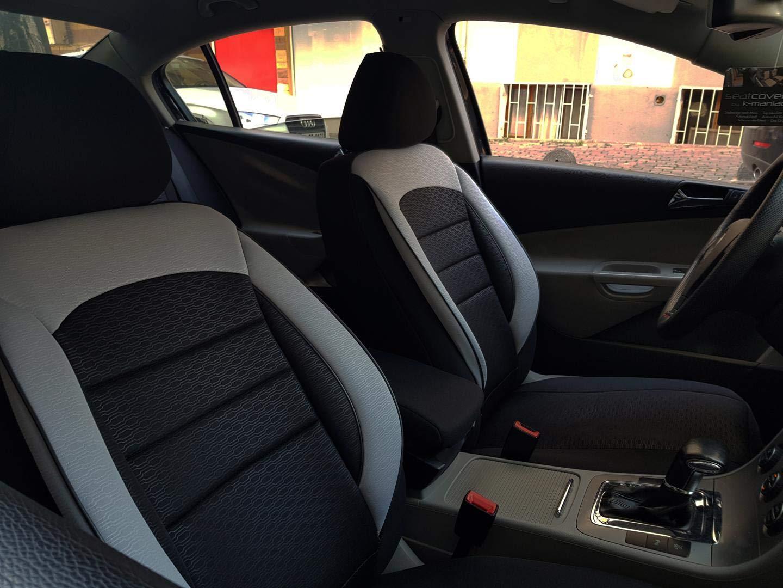 seatcovers by k-maniac Housses de Protection pour si/èges dauto NO2702700 Noir-Gris si/èges Avant et arri/ère Accessoires Automobiles