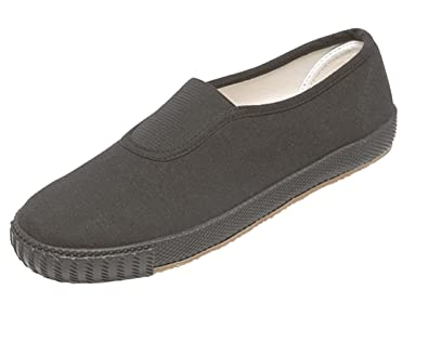 fabe0057e543 GYM New Season Unisex Slip On School Plimsoles Juniors (13 Child UK ...
