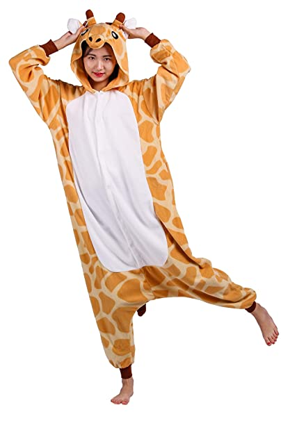 d52c875e0b Pigiama Animati Adulti Kigurumi Giraffa Cartoni Animale Cosplay da Unisex:  Amazon.it: Abbigliamento
