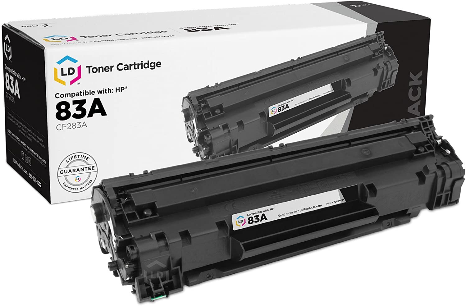 LD Compatible Toner Cartridge Replacement for HP 83A CF283A (Black)