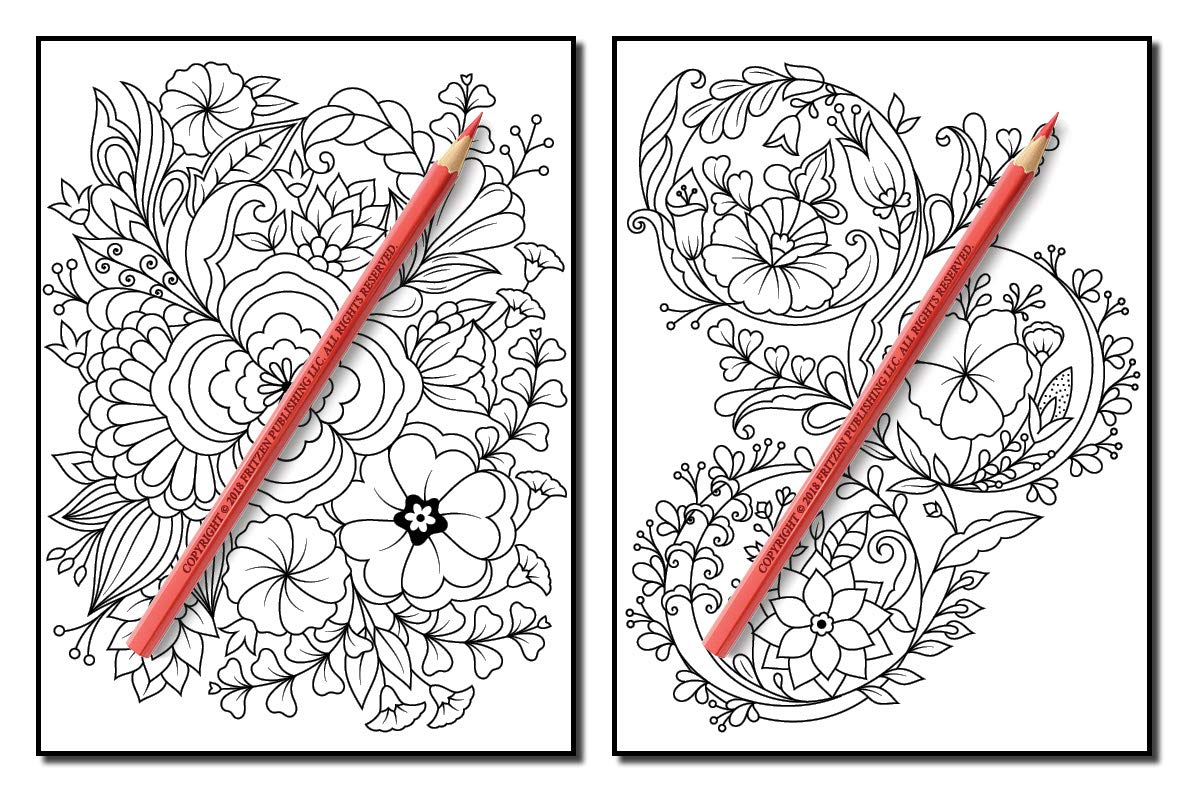 Springtime Flowers An Adult Coloring Book With Beautiful Spring