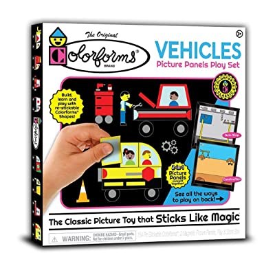 Colorforms Picture Panels Play Set - Vehicles: Toys & Games