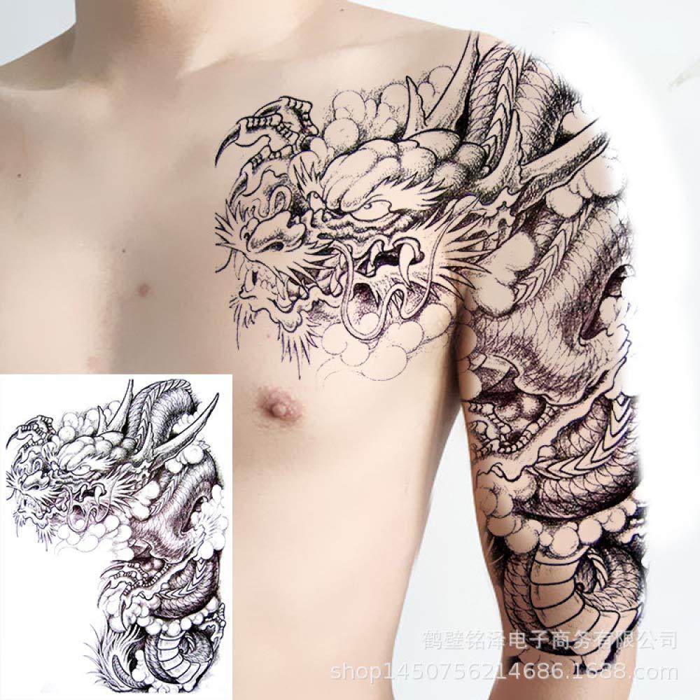 tzxdbh 3 Piezas: la Mitad Nueva de Las Pegatinas de Tatuaje en la ...