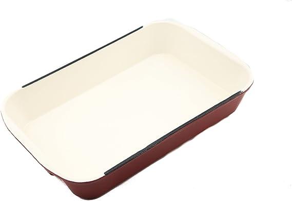 Useful UH-CI197 Cast Iron Enameled 14-Inch Roasting and Lasagna Pan