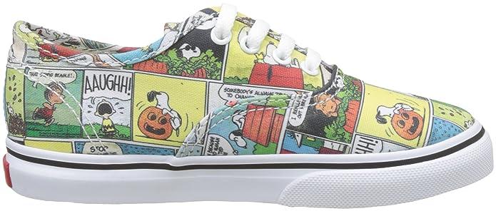 Vans Authentic, Sneaker Unisex-Bimbi, Multicolore (Peanuts/Comics/Black/True White), 26.5 EU