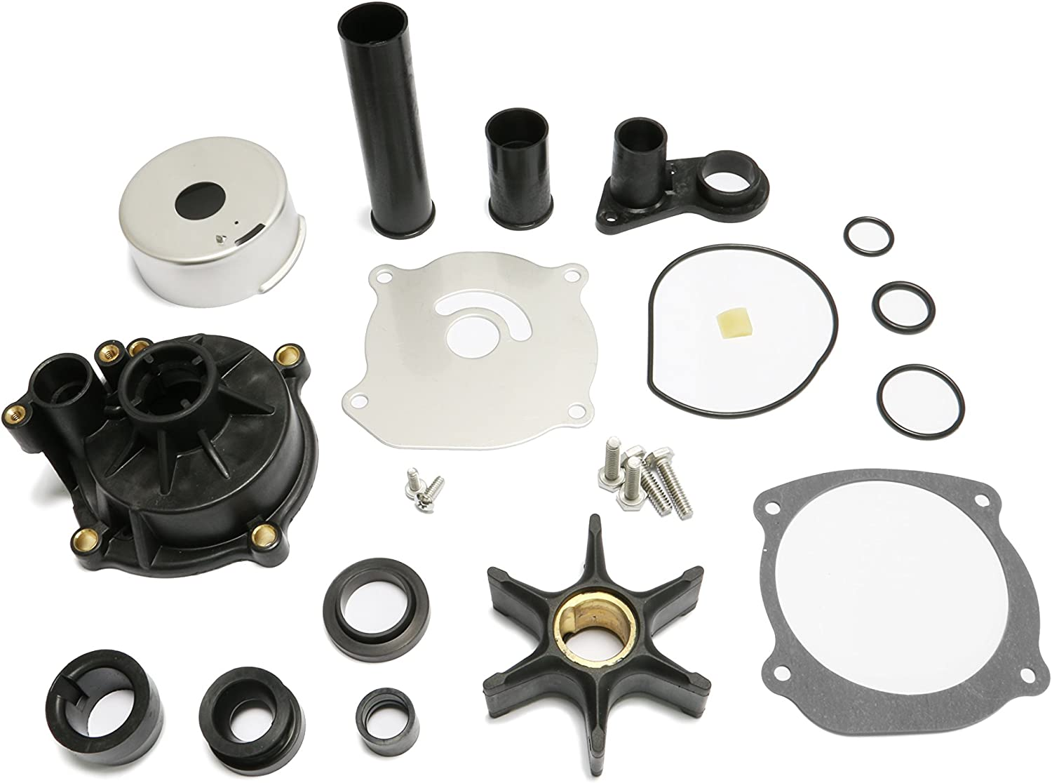 PumuHo Johnson Evinrude Outboard Water Pump Kit Replacement 5001595 2004-07 75-250HP with Housing 435929 18-3315-2