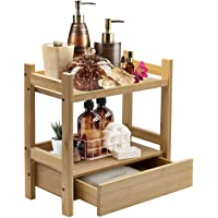 Sorbus Bamboo Makeup Organizer, Multi-Purpose Storage for Skincare, Toiletries, Desktop, Household Items, Display Stand…