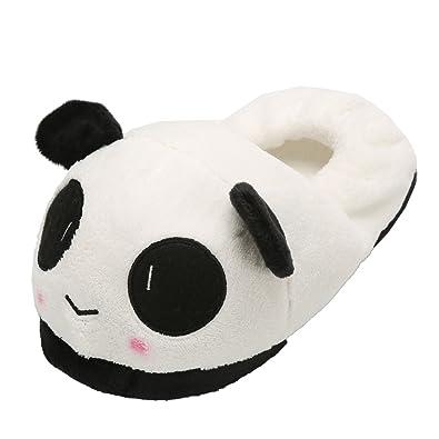 360787d1fb9da Chaussons Panda Femme Homme - Slippers Pantoufle Panda Souple en Peluche  Chaussure Animal Unisexe Hiver Taille