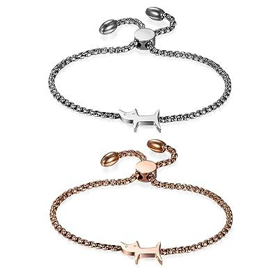 ChatChaton Jewelrywe Bracelet Acier Femme ArgentéDe 4RScj5Aq3L