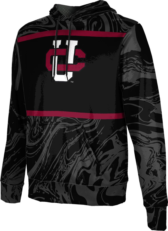 ProSphere Chapman University Boys' Pullover Hoodie, School Spirit Sweatshirt (Ripple) FD001 Black and Red