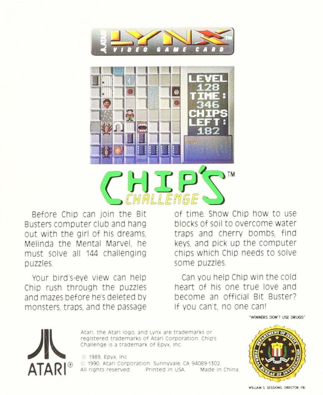 Chip's Challenge by Atari (Image #2)