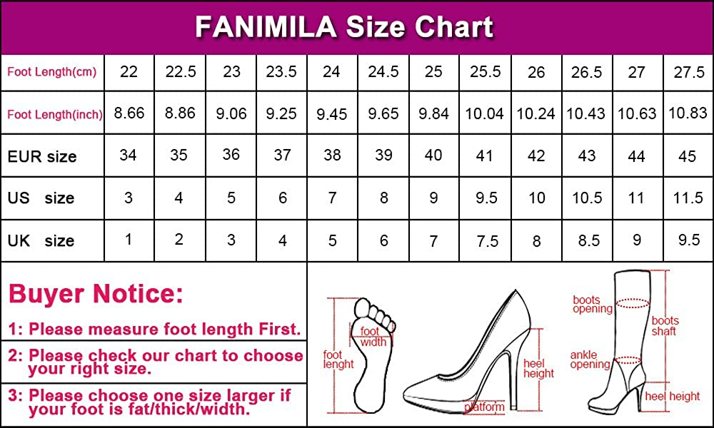 FANIMILA Ladies Fashion Floral Sandals Platform Heels Extra Sizes