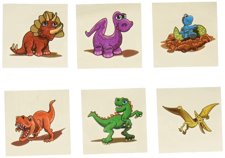Lot Of 144 Assorted Dinosaur Theme Temporary Tattoos