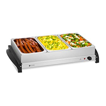 Royal Catering RCHP-400/3 Calienta platos Electrico Calentador Buffet (3 x 2