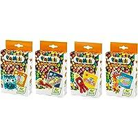 PlayMais 160656 - PlayMais Mini Mosaic Vorteilsset, zum Befüllen des Adventskalender, ca. 1200 PlayMais, 4er Set