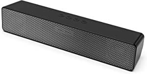 Computer Speakers, Saiyin Bluetooth PC Speakers Sound Bar, Stereo Pairing, Bass Sound, 11 Inch 16 W Powerful Mini Sound Bar Speakers for Desktop Computer, PC, Laptop, Monitor, Tablet, Smartphone