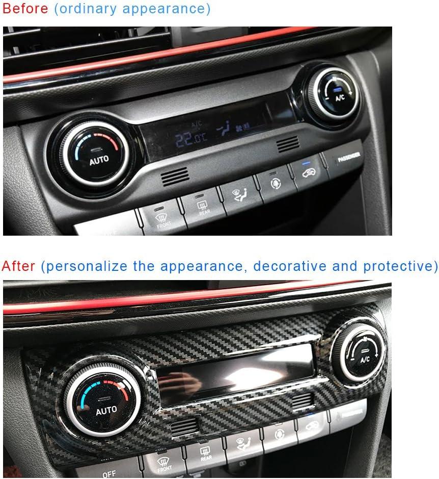 TOFITT Carbon Fiber Color Interior AC Switch Air Condition Panel Button Knob Air Outlet Vent Cover Trim for Hyundai Kona Encino Kauai SUV 2017-2020 1pc