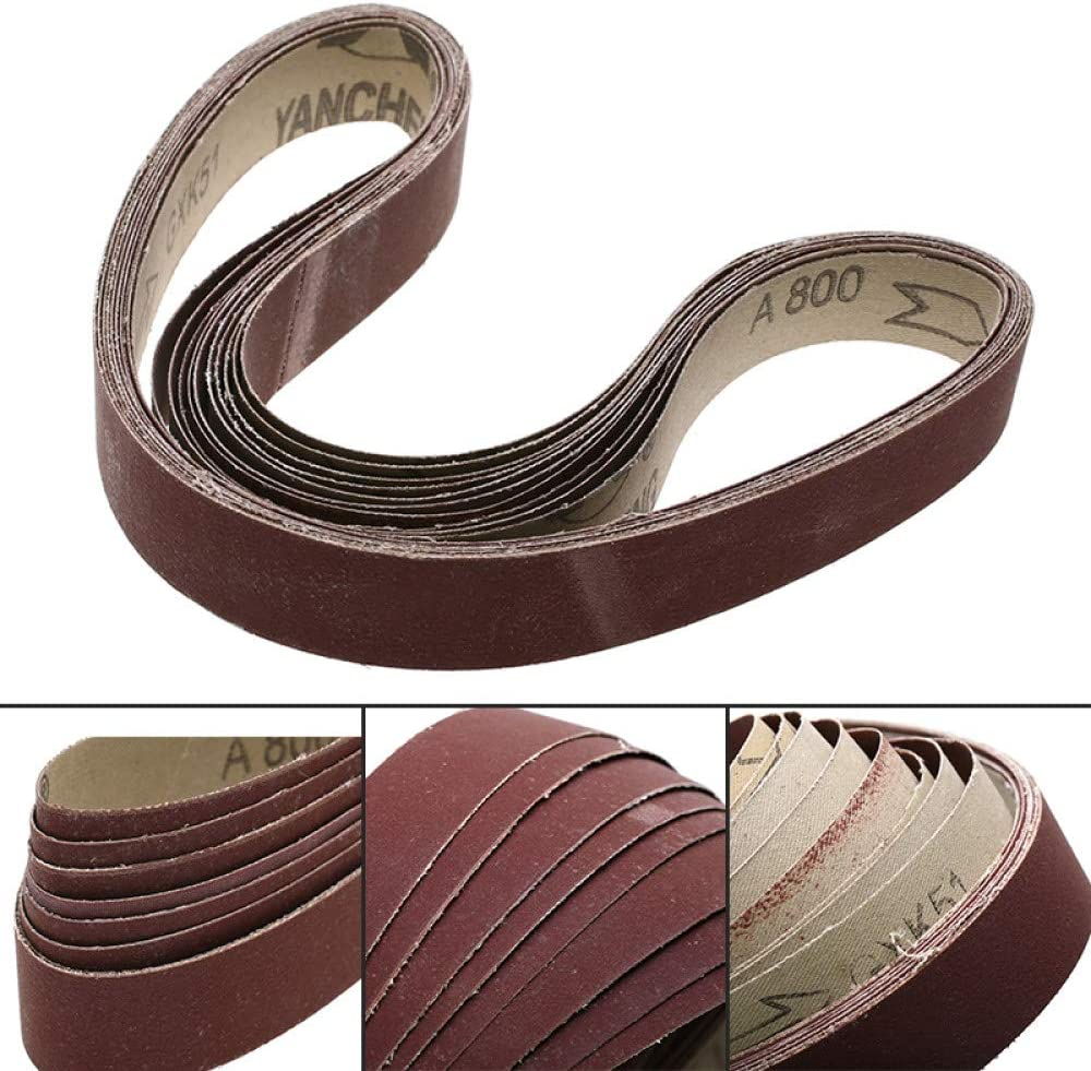 FANLLOOD Abrasive Belt 20Pcs Sanding Belts 760x25mm 60-1000 Grit Strip Oxide Paper Abrasive for Wood Metal Sanding Abrasive Tools,24Pcs Every Grit 2Pc 20pcs P320