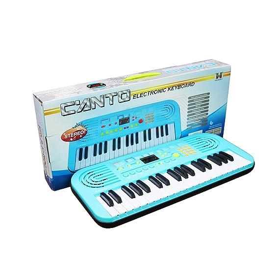 Piano para niños, Sanmersen 37 teclas Gran teclado multifunción de órgano electrónico musical Kids Play Piano juguete educativo para niños Niños niñas ...