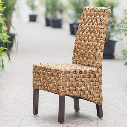 International Caravan Furniture Piece Set of Two Victor Woven Abaca Dining Chair