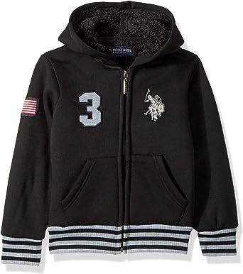 Bumeex Boys Sherpa Fleece Lined Jacket,Zip up Sweatshirt Hoodie