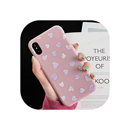 Amazon.com: Funda para iPhone 7 Plus X XS, diseño de corazón ...