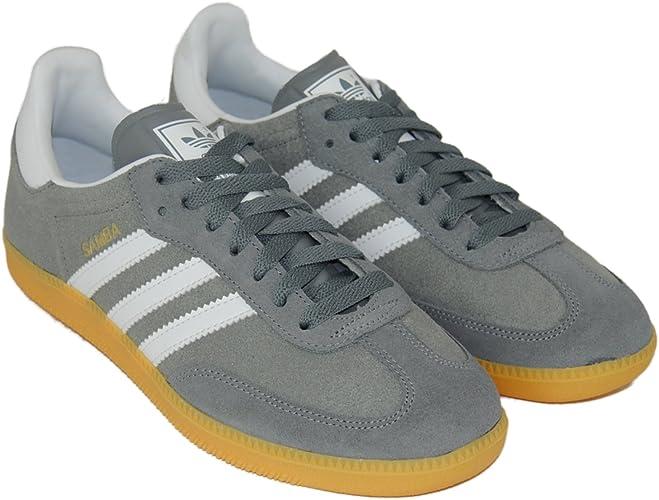 adidas samba grey white suede trainers