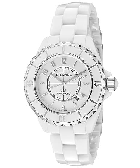 Chanel J12 Blanco Dial Cerámica Automático Unisex Reloj h2981