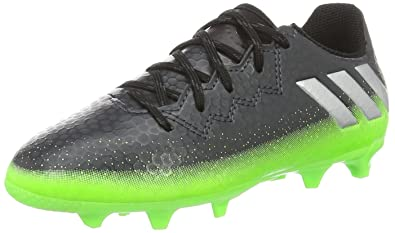 a1b7180ca52 adidas Kids  Messi 16.3 FG Football Boots Dark Grey Silver Metallic Solar  Green