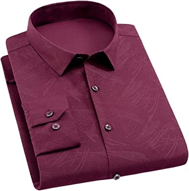Vska Mens Lapel Color Block Over Sized Short Sleeve Regular Dress Shirts