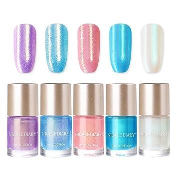 Amazon.com: Nicole agenda Base de agua esmalte de uñas perla ...