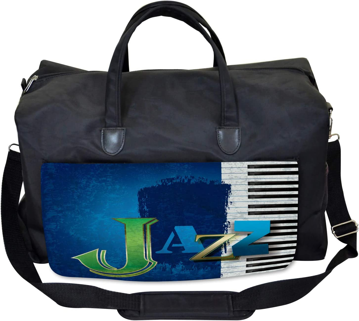 Jazz Music Keys Guitar Ambesonne Abstract Gym Bag Large Weekender Carry-on