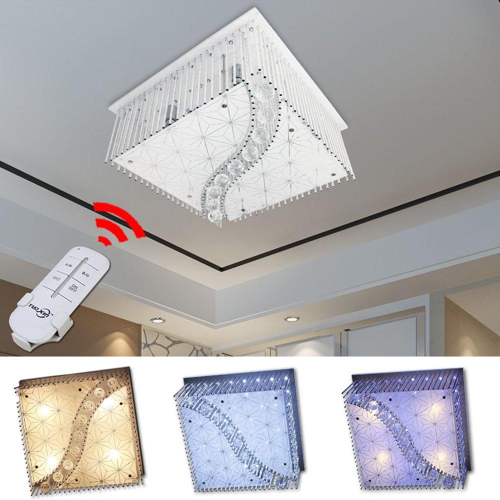 HG® LED Lámpara de techo Moderno Cristal Lámpara de techo Lámpara Living Room Ahorro de Energía Cocinas Dormitorio: Amazon.es: Iluminación