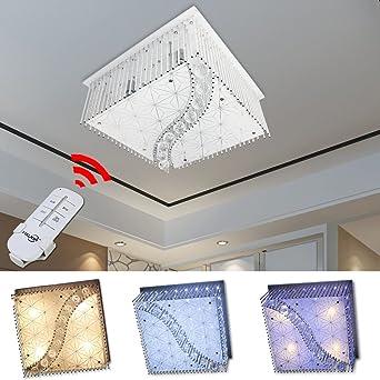 HG 40W LED Kristall Deckenleuchte Deckenlampe Modern Kronleuchter ...