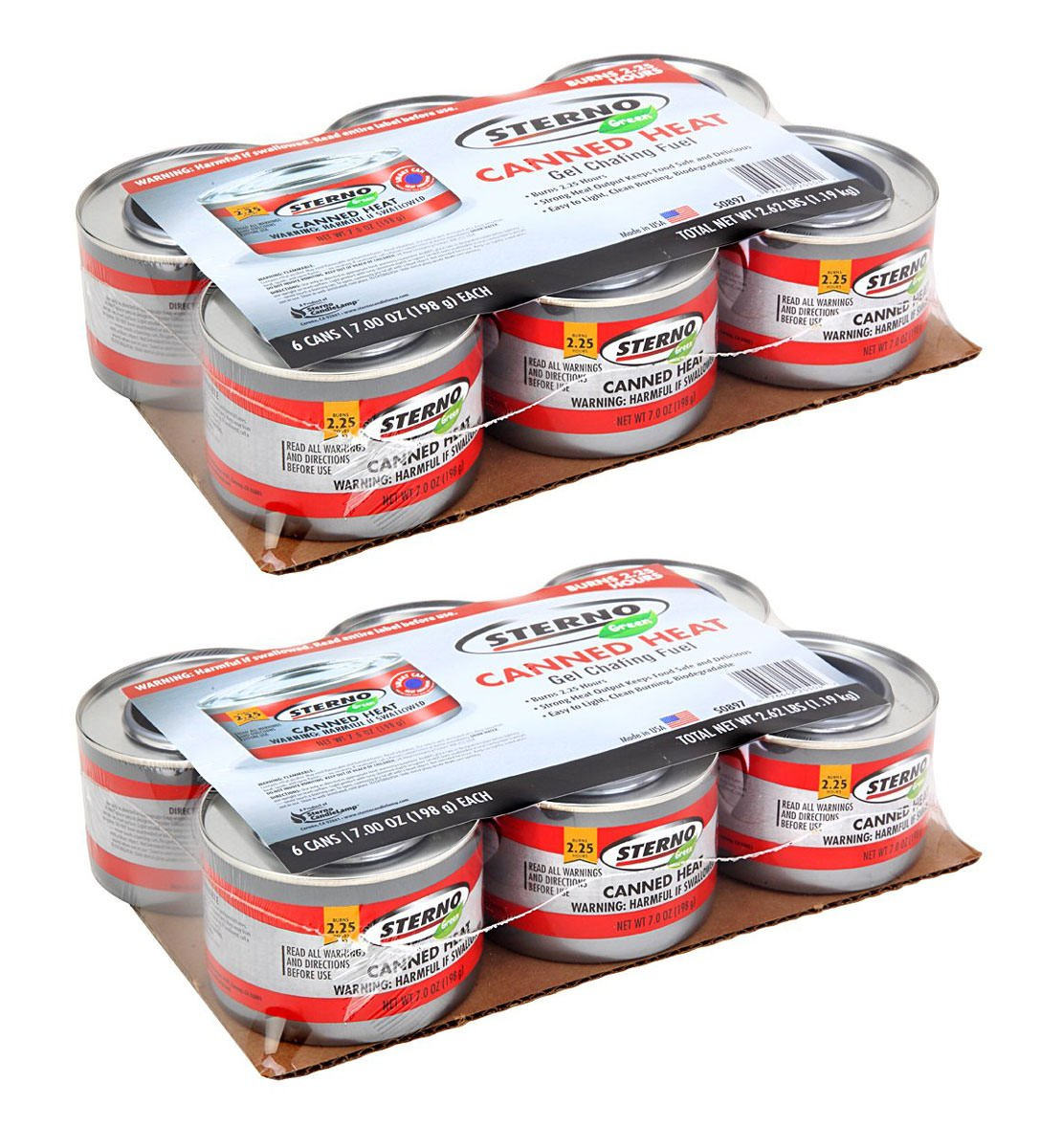 Sterno IUYEHDUH 20504 7-Ounce Entertainment Cooking Fuel, 6-Pack of 2 Pack by Sterno (Image #1)