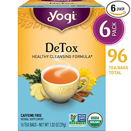 Yogi Tea - DeTox Tea - Healthy Cleansing Formula With Traditional Ayurvedic Herbs - 6 Pack, 96 Tea Bags Total