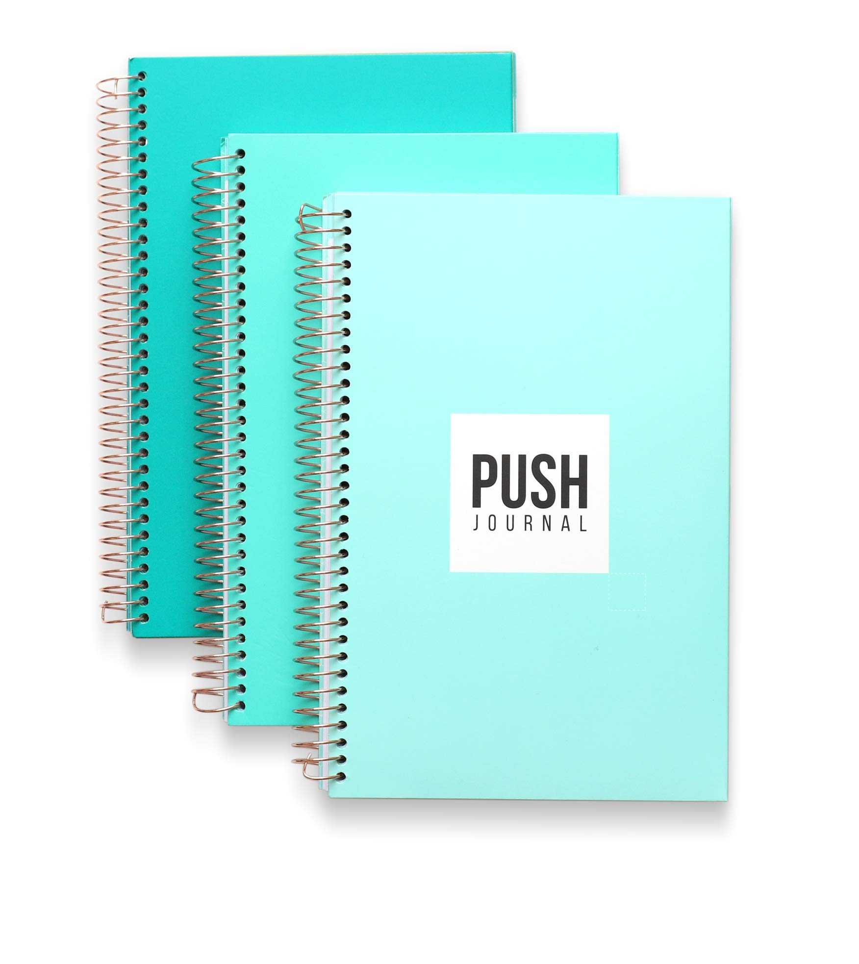 A 90-day, Undated, All-In-One Life Planner/Goal Setter/Notebook/Organizer/Scheduler/Journal Book, 3 Colors/Pack, Each Journal: 160 Pages-Quality Paper, 0.9 Lbs, 7x9 - Fits Into Your Bag
