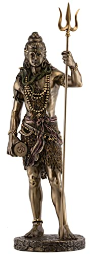 Top Collection Large Standing Shiva Statue with Trishula Trident – Lord Shiva Destroyer of Evil Sculpture in Premium Cold Cast Bronze – 24-Inch Collectible Hindu Figurine