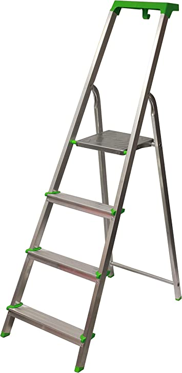 Escalera Tijera c/Bandeja Superior Multifuncional (4 Peldaños). BTF-TJL204: Amazon.es: Bricolaje y herramientas