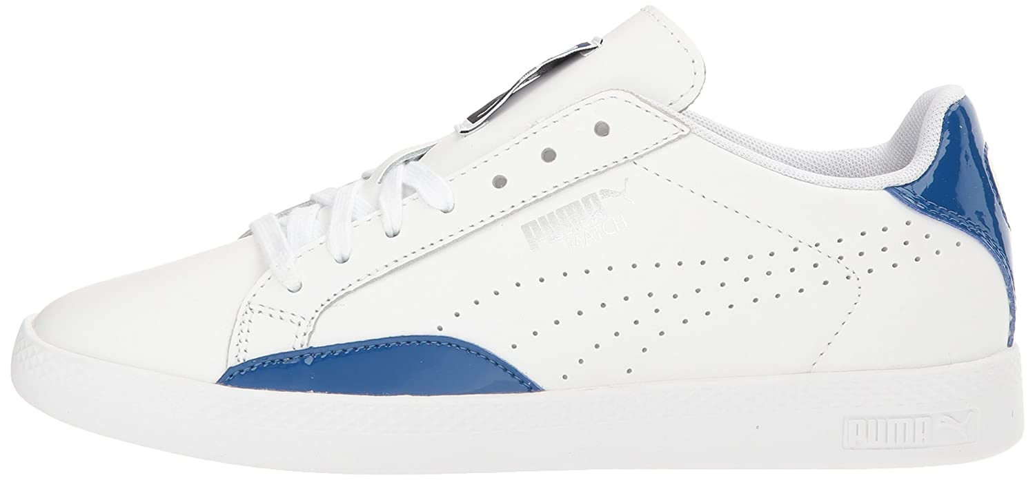 Puma Woherren Match Match Match Basic Turnschuhe in Weiß and True Blau 8dbfeb