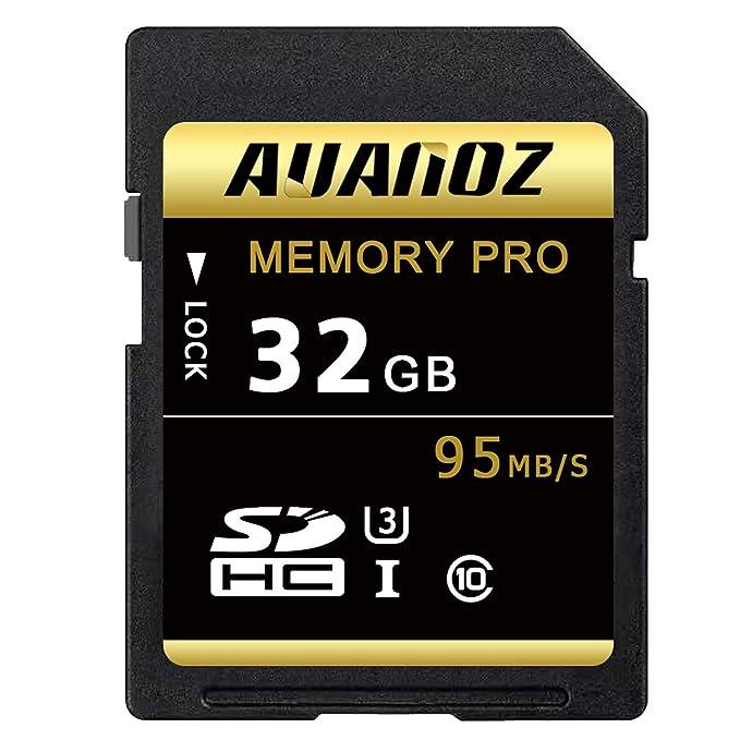 Tarjeta SD de 32 GB Auanoz SDHC Clase 10 UHS-I Tarjeta De Memoria De Alta Velocidad Para Teléfono, Tableta y PC - Con Adaptador (SD Card-32gb)