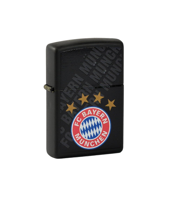 Zippo Feuerzeug FC Bayern München schwarz matte