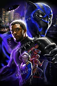 PremiumPrints - Marvel Black Panther Movie Poster Glossy Finish Made in USA - FIL606 (24
