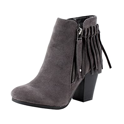 Gail-26 Women's Belted Chunky Stacked Heel Ankle Booties Black 5.5