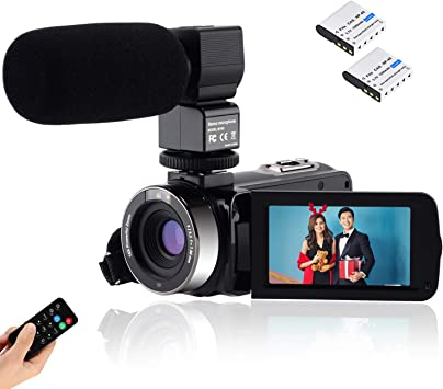 CofunKool Video Camara 1080P Videocámara 24MP FHD Vlogging Camara ...