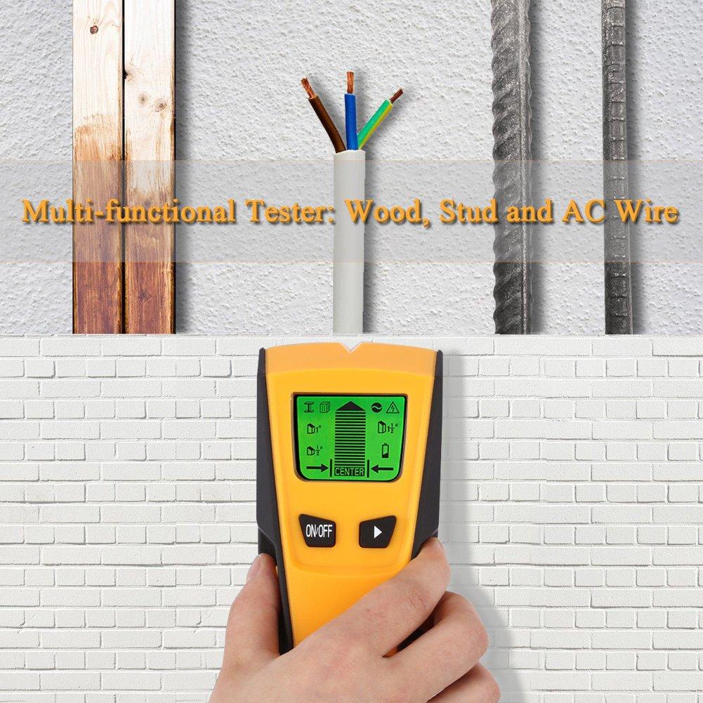 Holz und AC Draht ZOTO Leitungssucher 3 in 1 Multidetektor Digitales Stud Finder f/ür Metall Rohre Ortungsger/ät